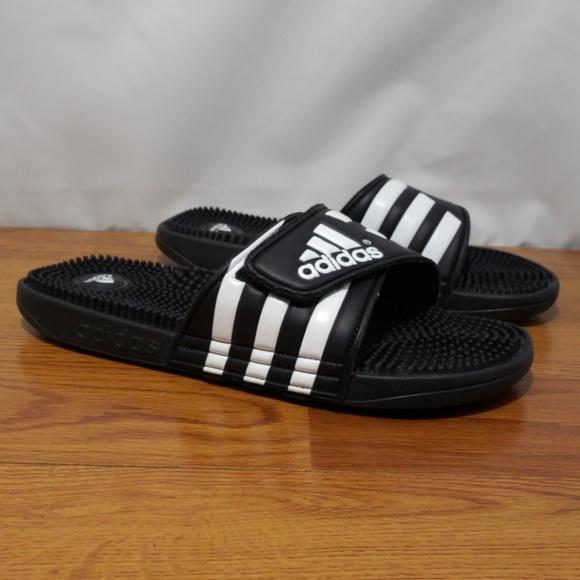 d344230d9e008 adidas Other - Adidas Adissage 078260 Black White Slides Size 11